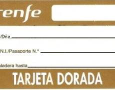 TARJETA DORADA DE RENFE A PARTIR DEL 33%